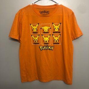 Pokemon pikachu days of the week shirt orange